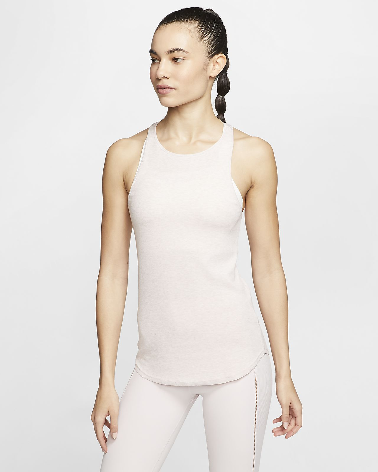 Nike Yoga Luxe bordázott női trikó