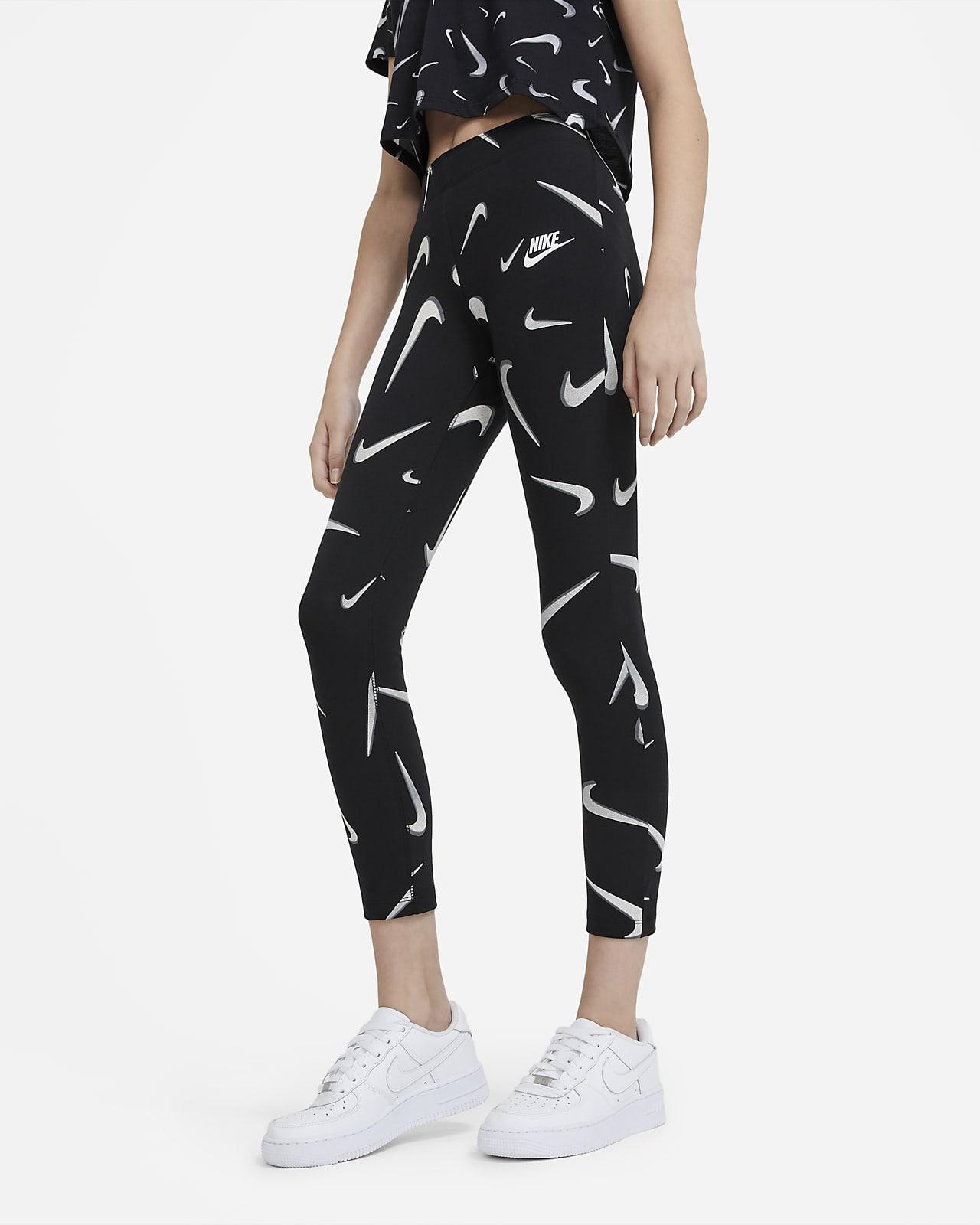 Леггинсы с принтом для девочек школьного возраста Nike Sportswear Favorites