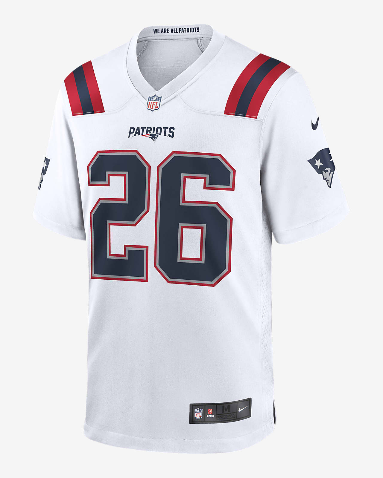 NFL New England Patriots (Sony Michel) Men's Game Football Jersey