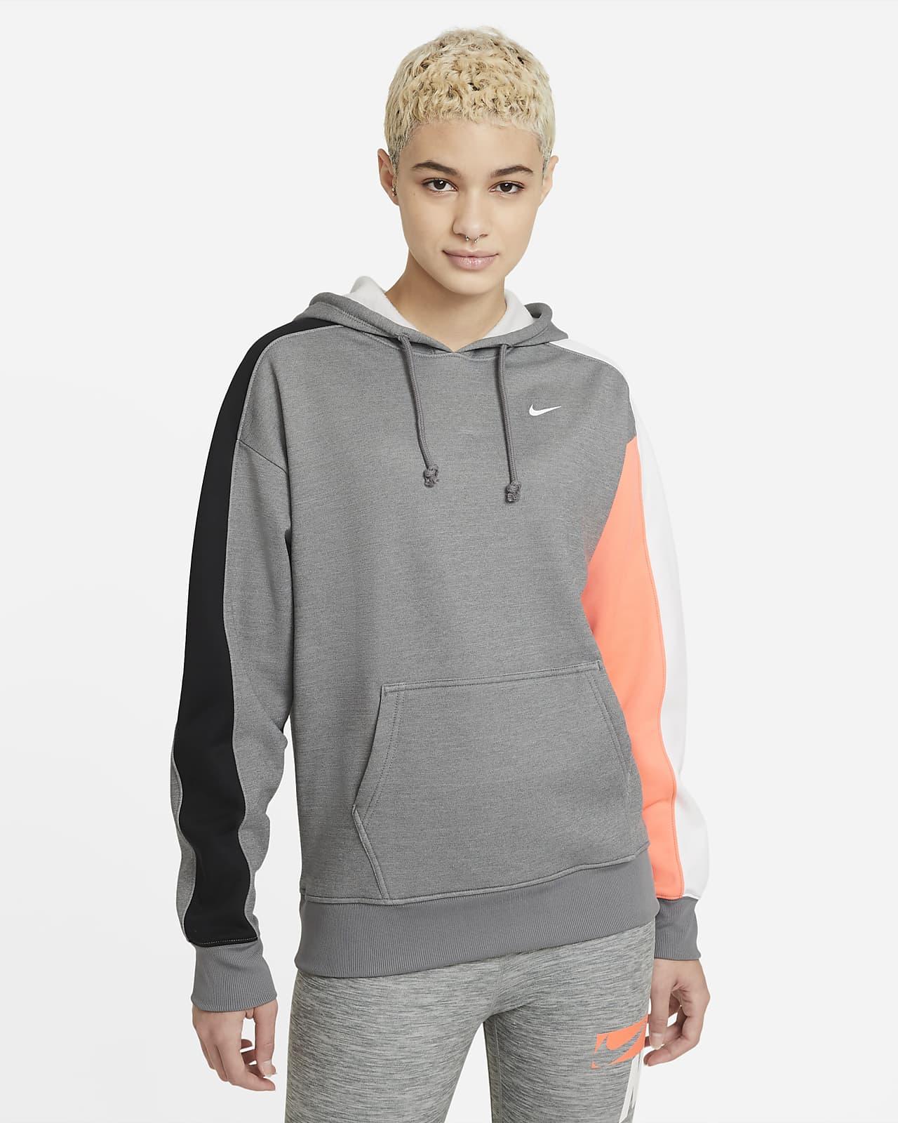 Nike Therma Renk Bloklu Kapüşonlu Kadın Antrenman Sweatshirt'ü