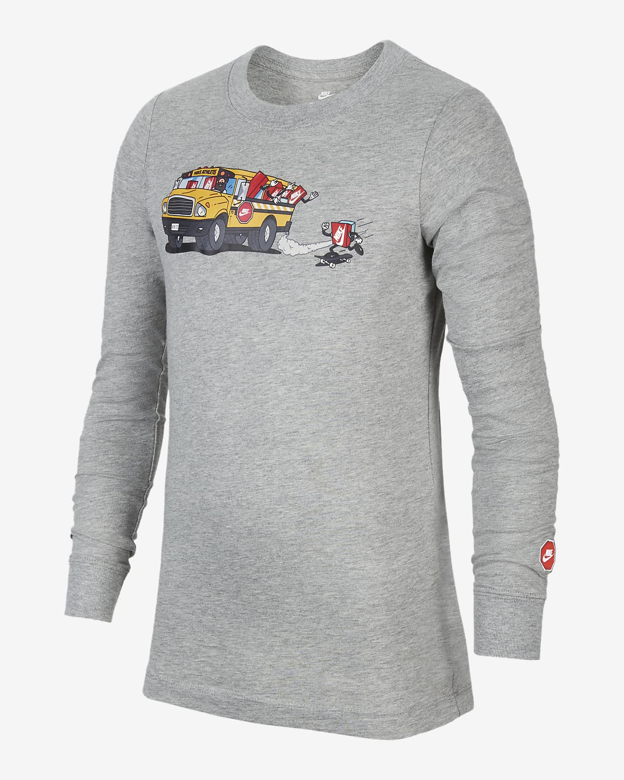 Playera de manga larga para niños grandes Nike Sportswear