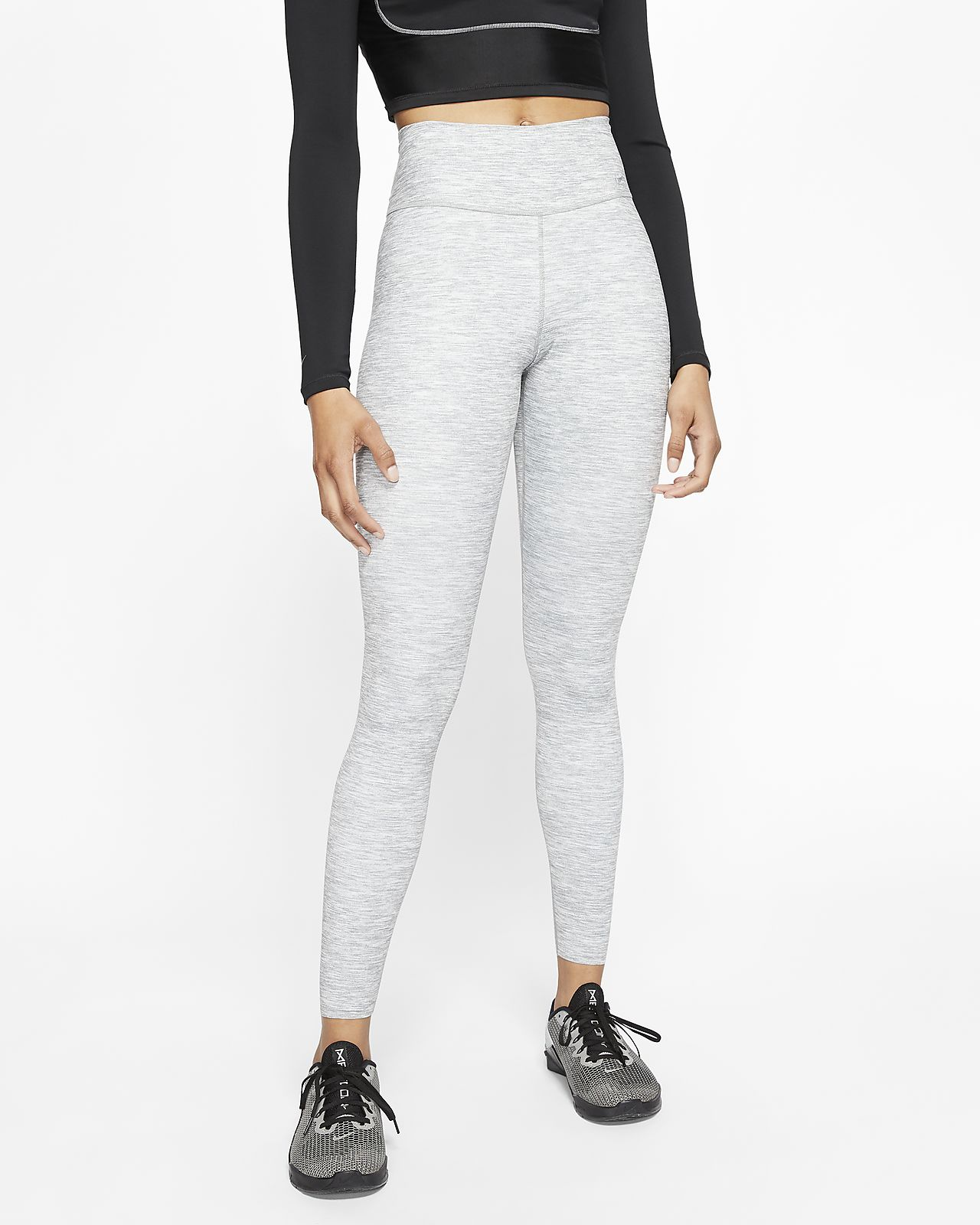 Legging taille mi-basse chiné Nike One Luxe pour Femme