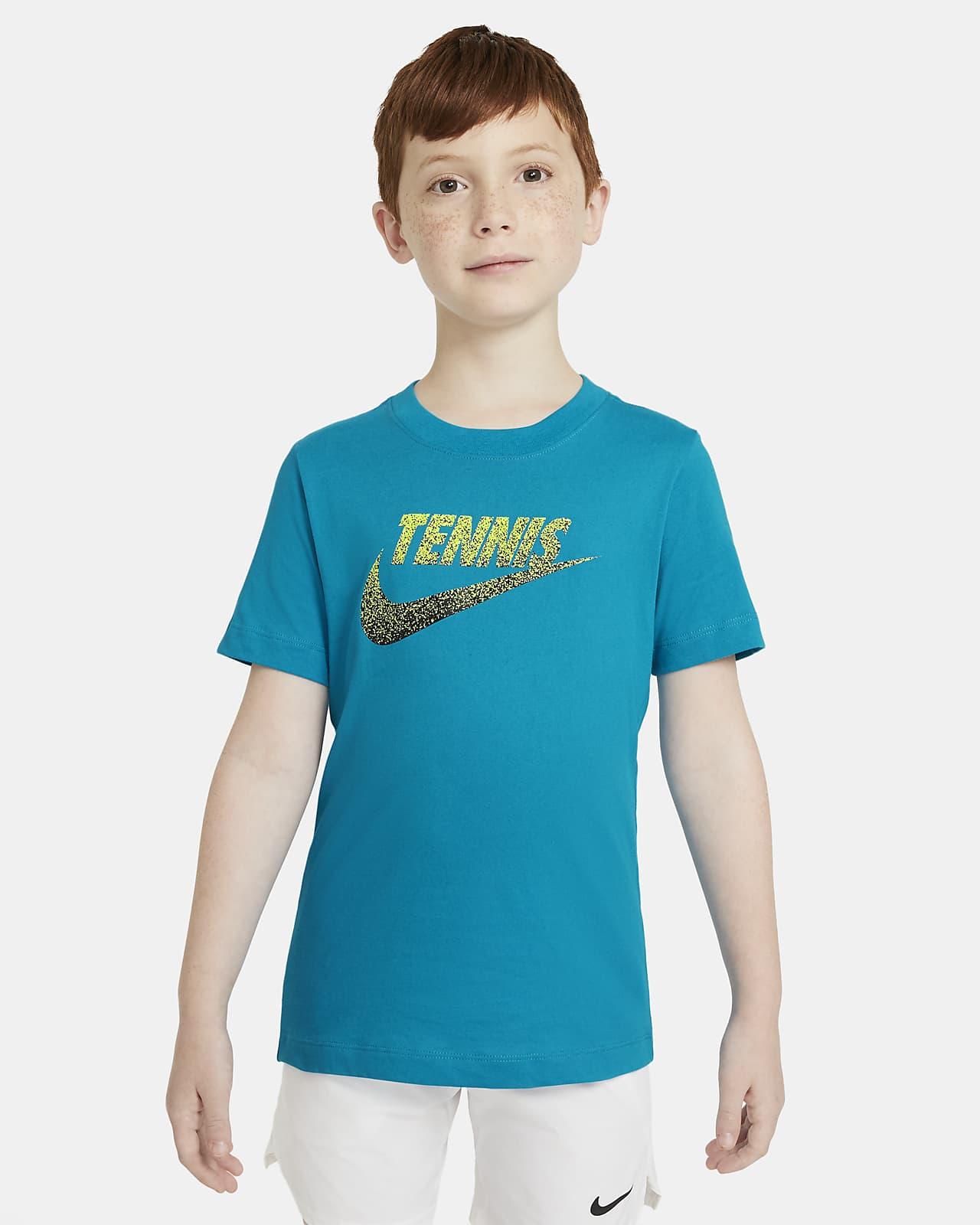 T-shirt da tennis con grafica NikeCourt - Ragazzi