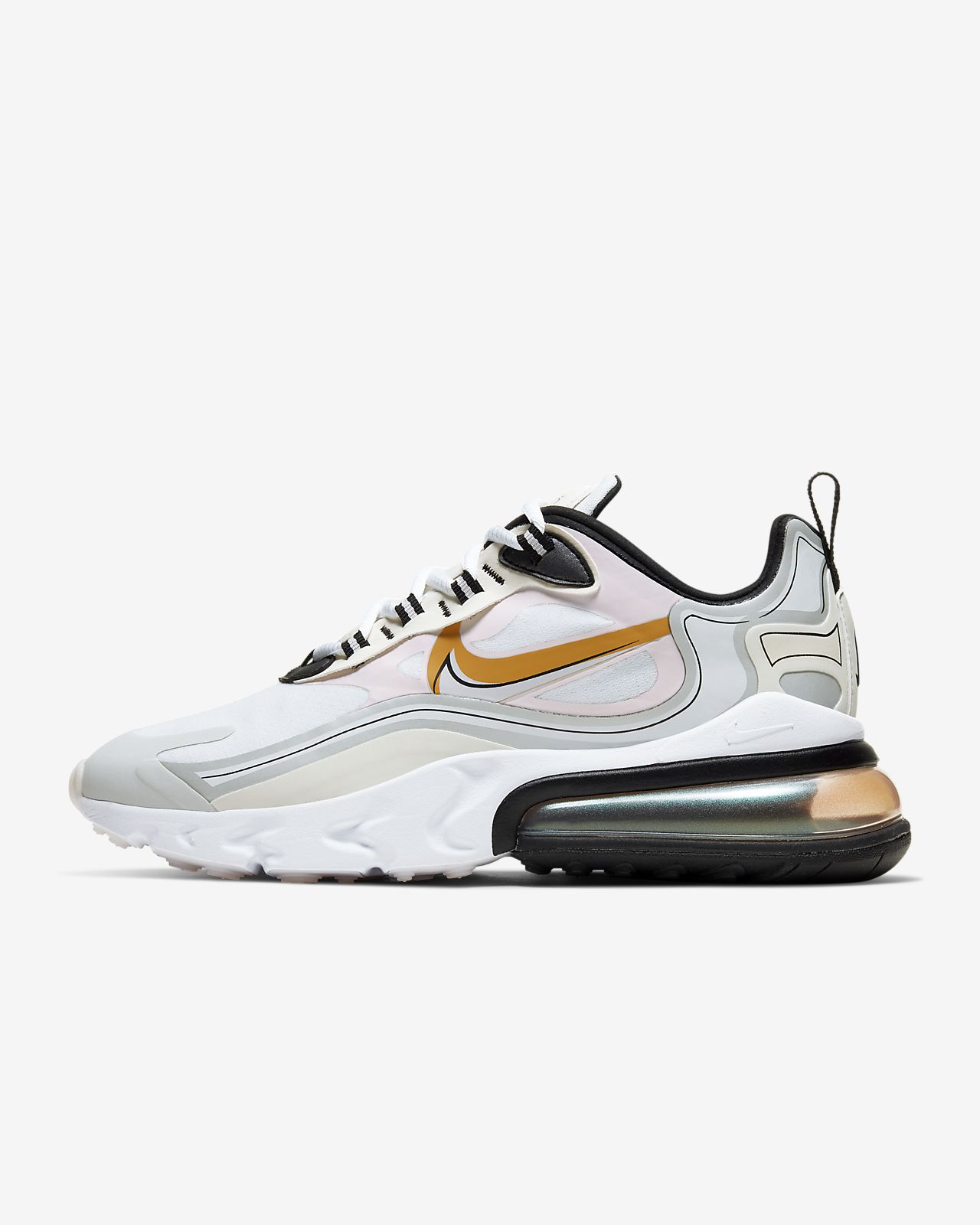 Nike Air Max 270 White Orange Black Sneaker