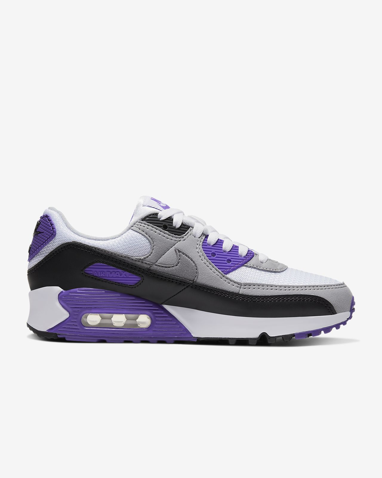 Details about Nike Wmns Air Max 90 OG 2020 Volt White Grey Black Women Casual Shoes CD0490 101
