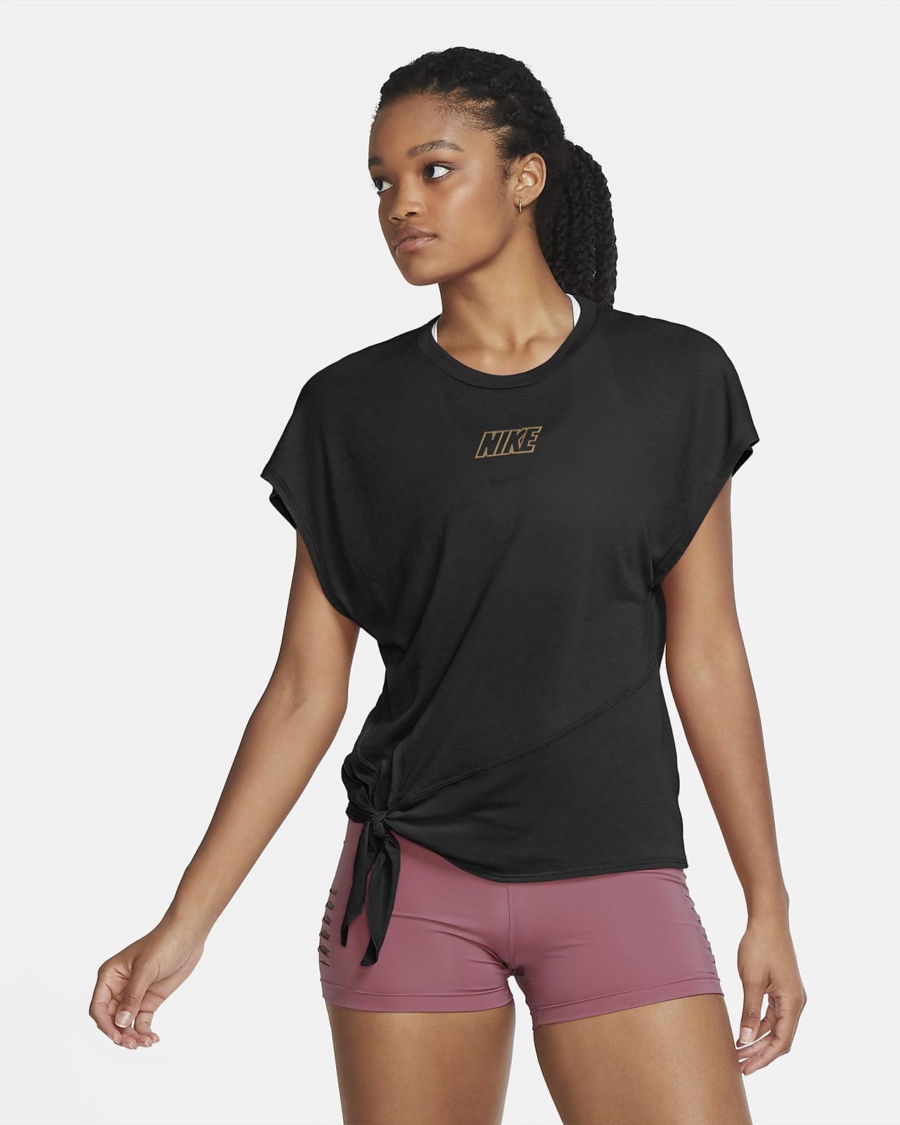 Dámský tréninkový top Nike Dri-FIT s krátkým rukávem
