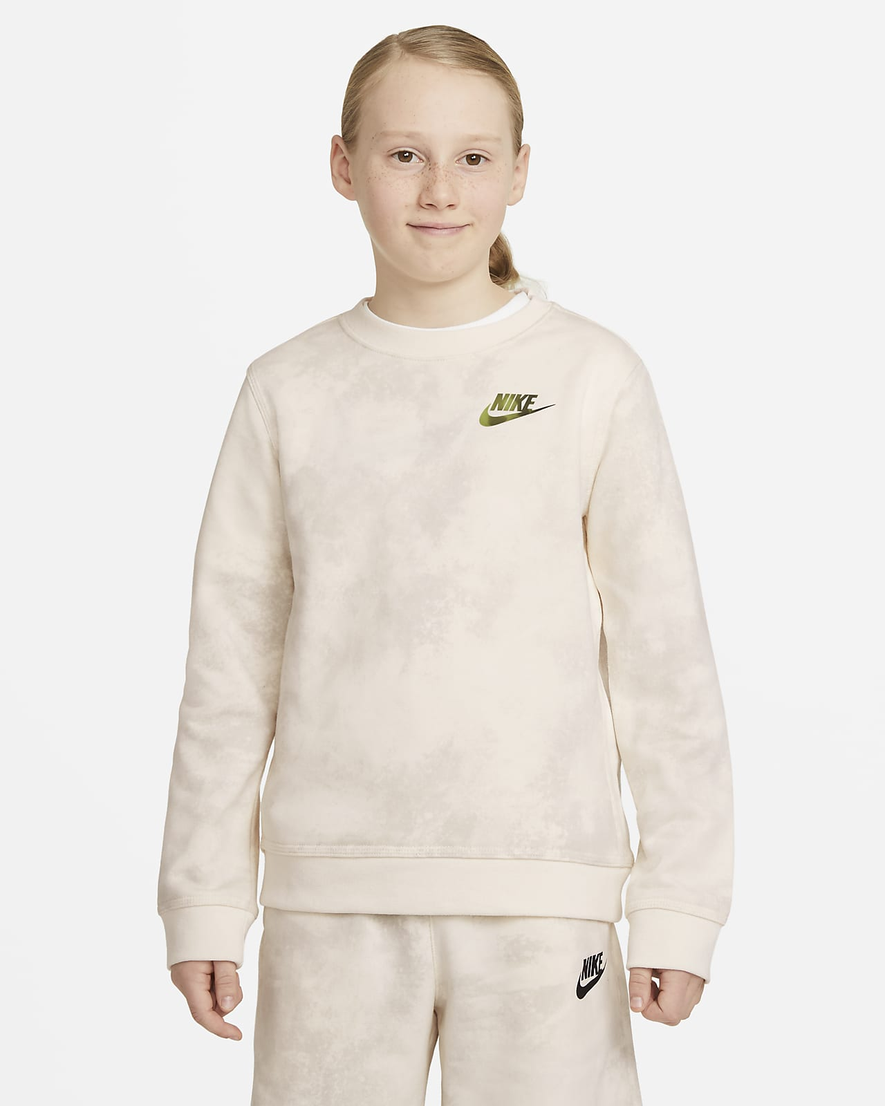 Nike Sportswear Magic Club Dessuadora tenyida de coll rodó - Nen