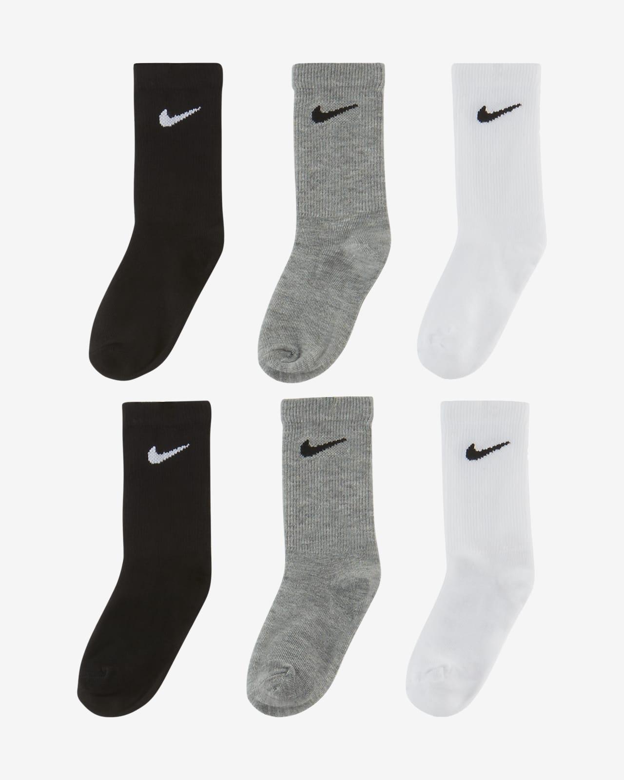 Nike Little Kids Crew Socks (6 Pairs)