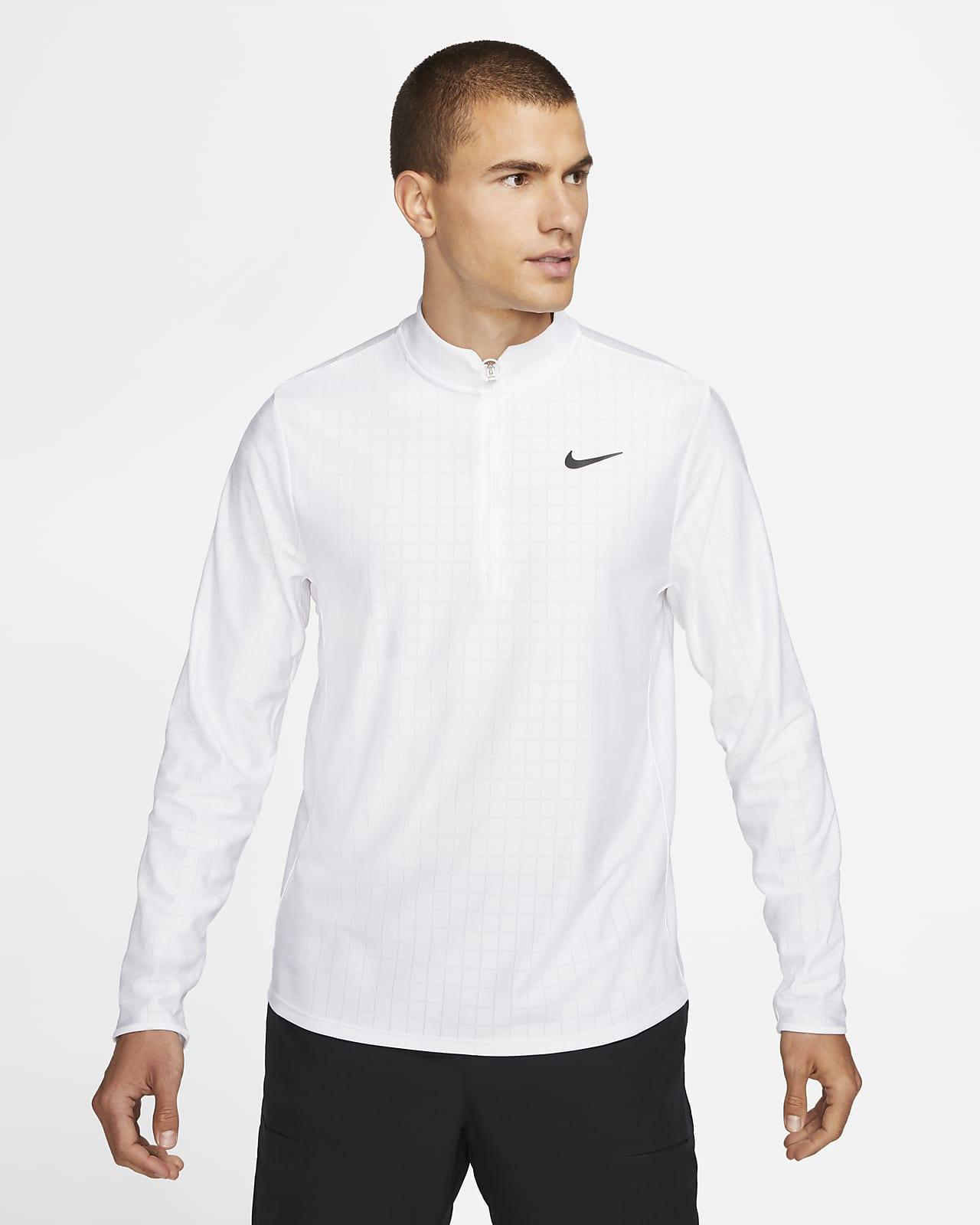 Haut de tennis à demi-zip NikeCourt Dri-FIT Advantage pour Homme