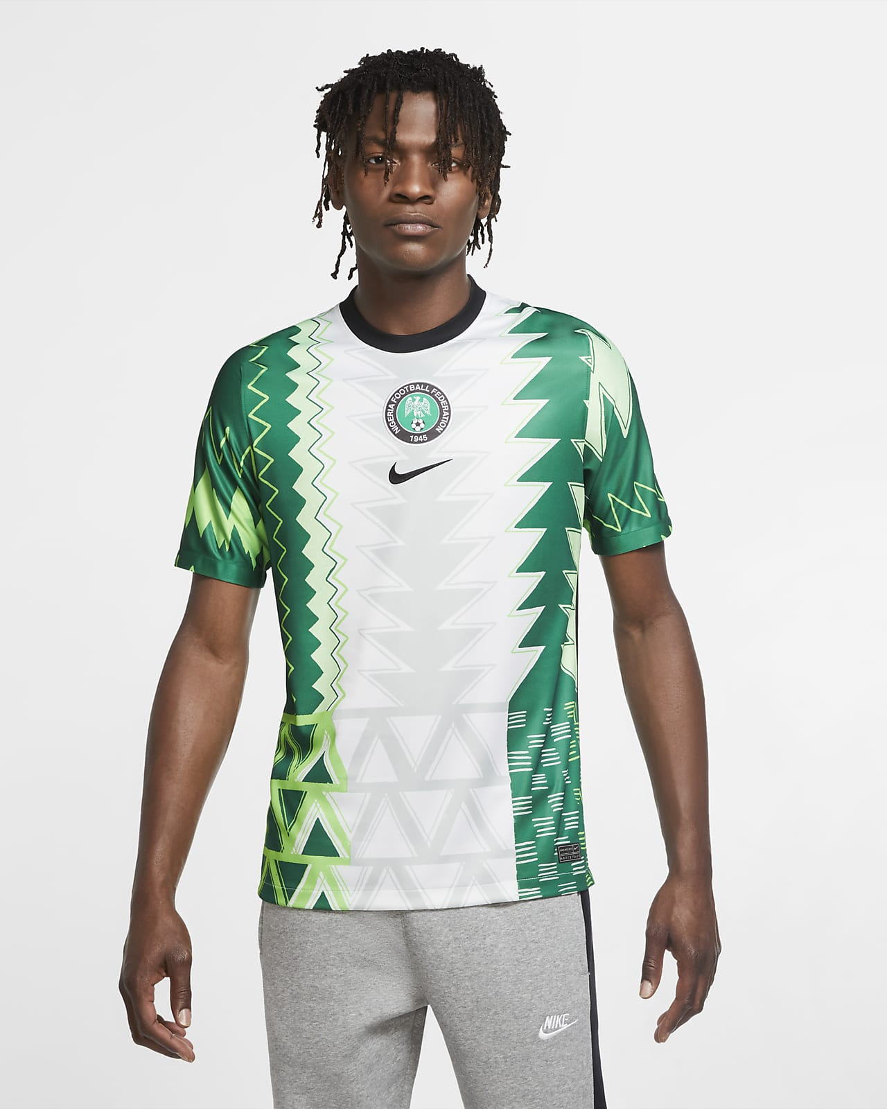 Nigeria 2020 Stadium Home Men's Soccer Jersey