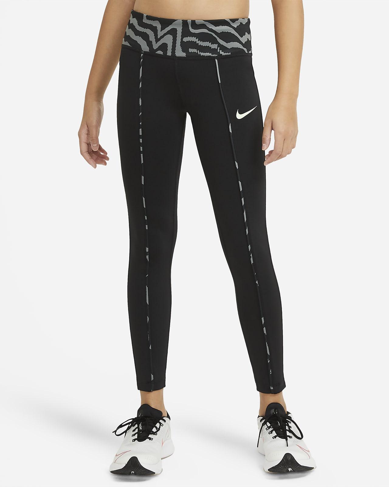 Leggings estampados de tiro medio para niña talla grande Nike One