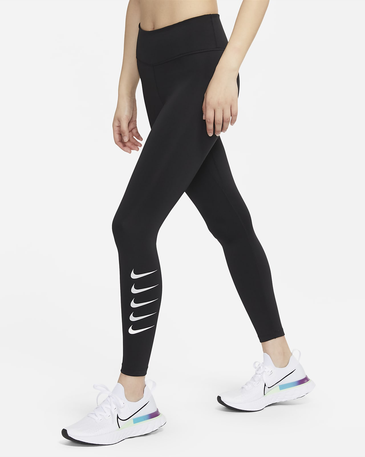 Nike Swoosh Run 7/8 女子中腰跑步紧身裤