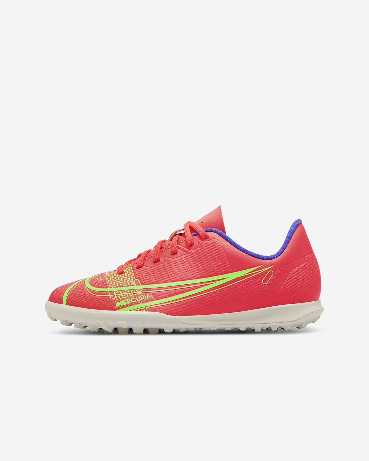 Calzado de fútbol para césped deportivo para niños talla pequeña/grande Nike Jr. Mercurial Vapor 14 Club TF