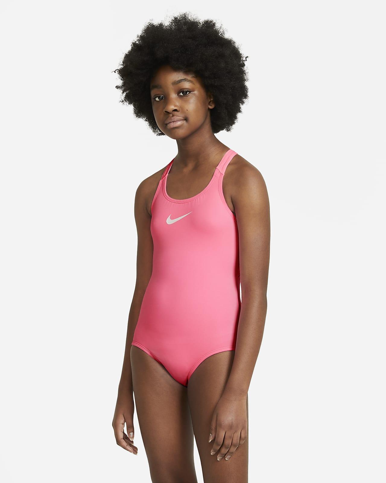 Nike Essential Big Kids' (Girls') Racerback 1-Piece Swimsuit