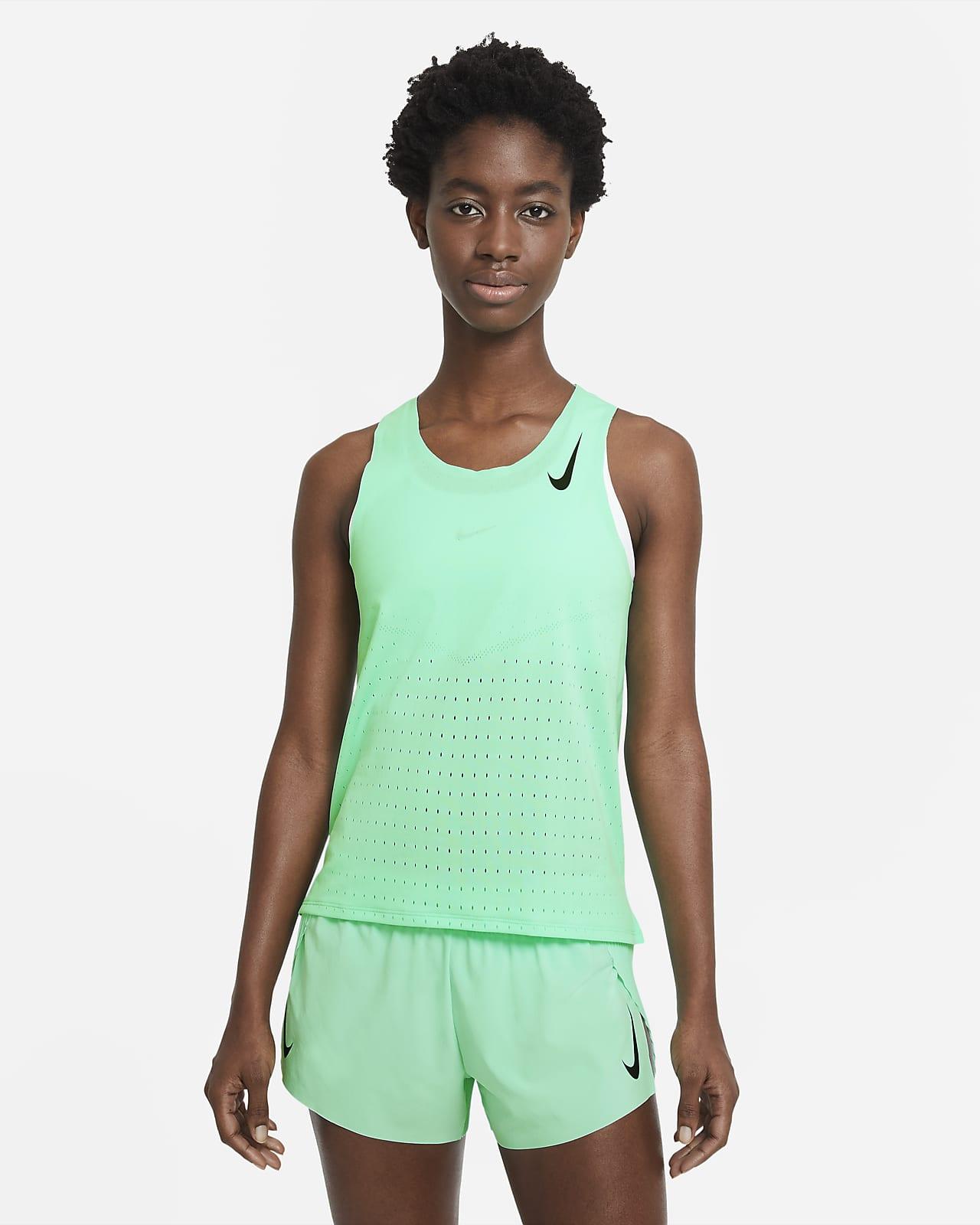Camiseta sin mangas de running para mujer Nike AeroSwift