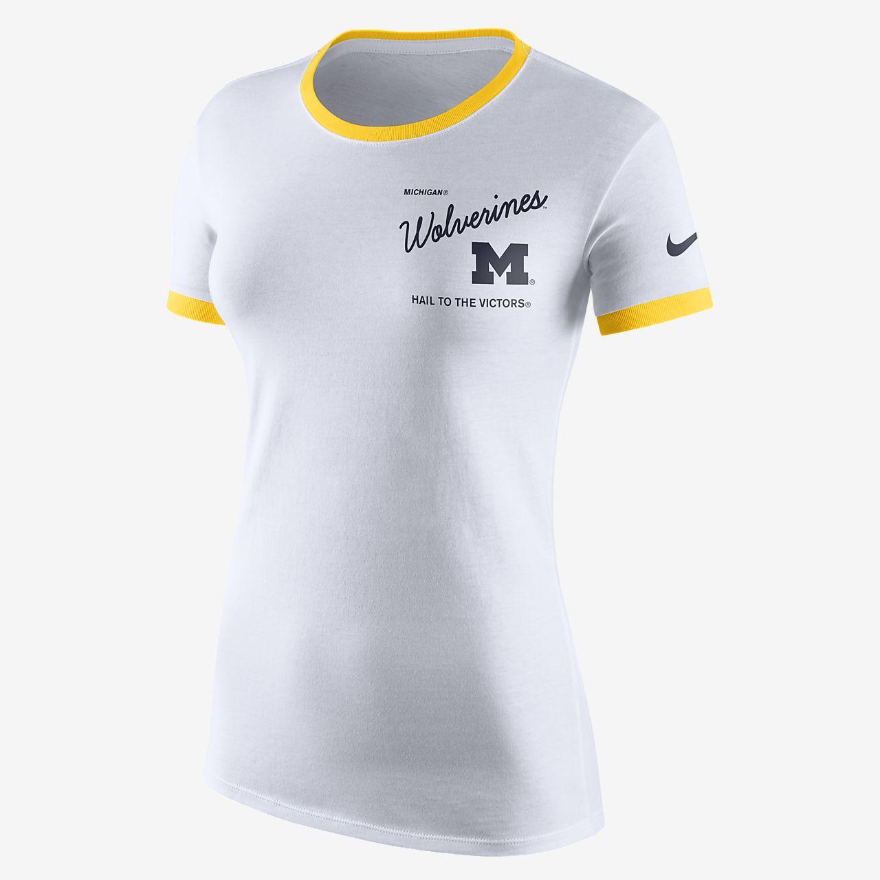 Nike College (Michigan) Women's Tri-Blend T-Shirt