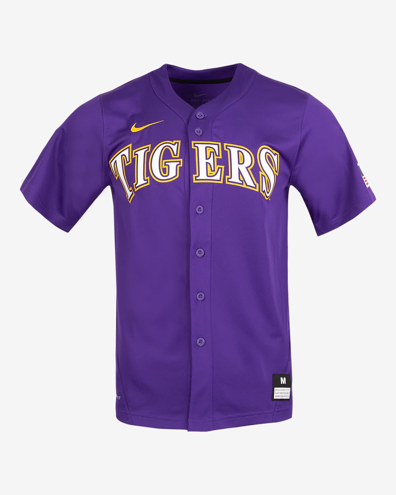 Nike College (LSU) Men's Full-Button Baseball Jersey