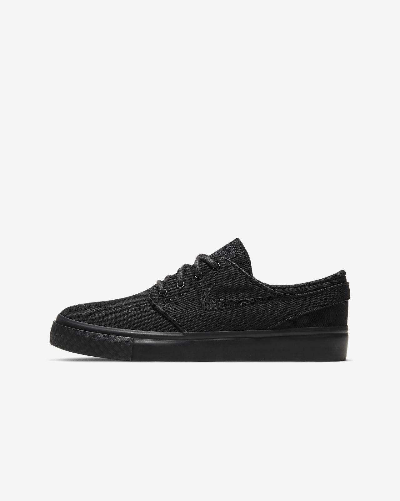 Nike SB Boys Shoes Stefan Janoski Black White