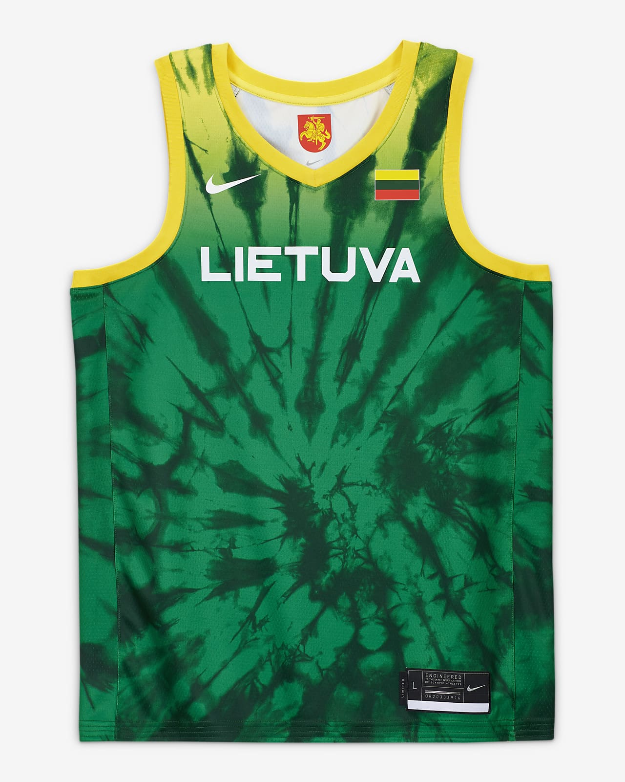 Lithuania Nike (Road) Limited Men's Basketball Jersey
