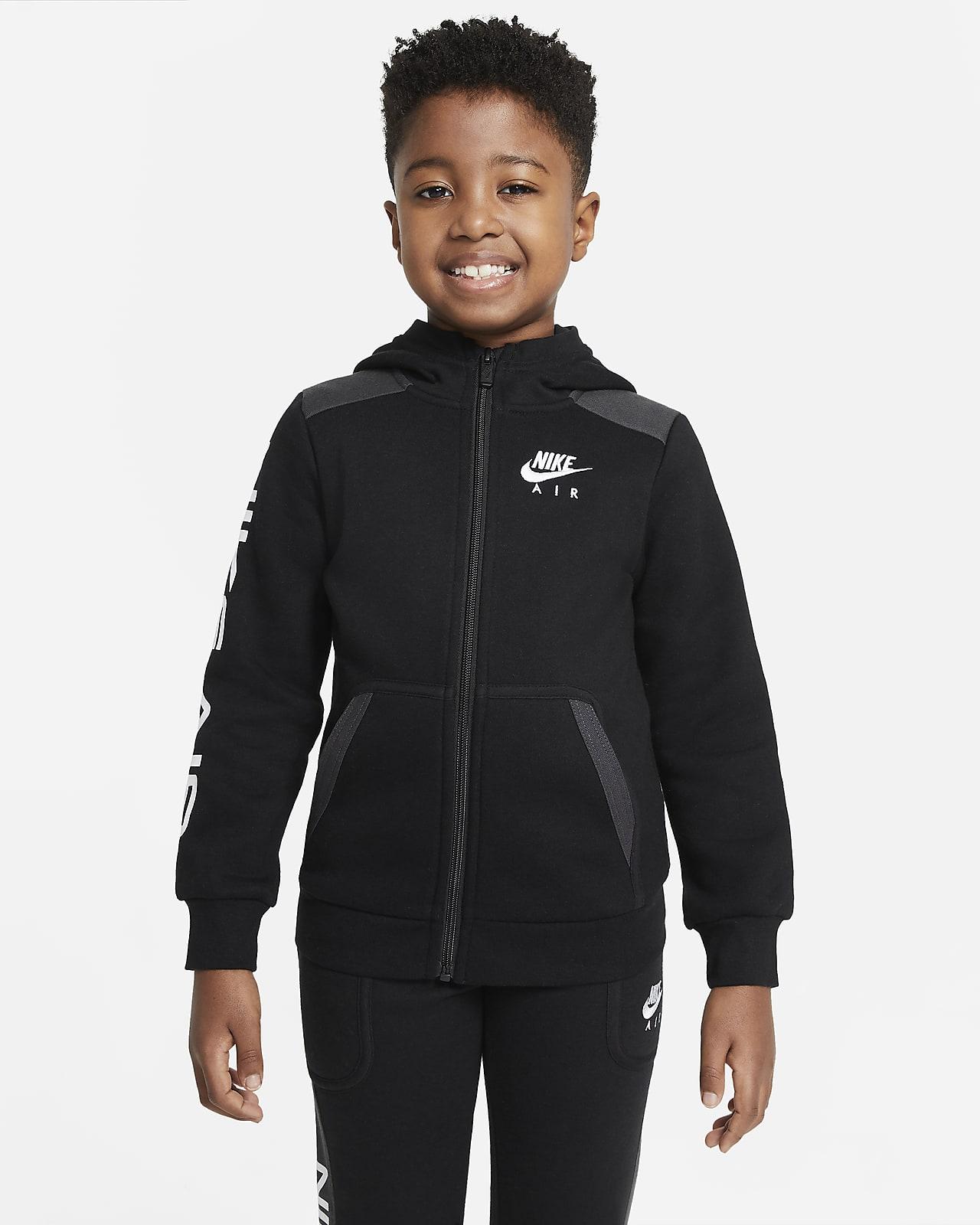 Sudadera con capucha de cierre completo para niño talla pequeña Nike Air