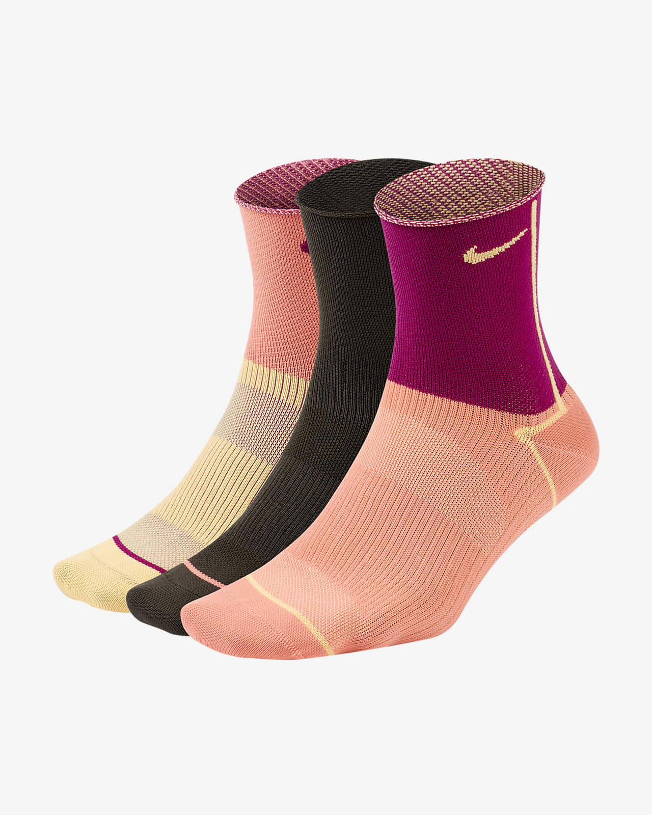 Chaussettes de training Nike Everyday Plus Lightweight pour Femme (3 paires)