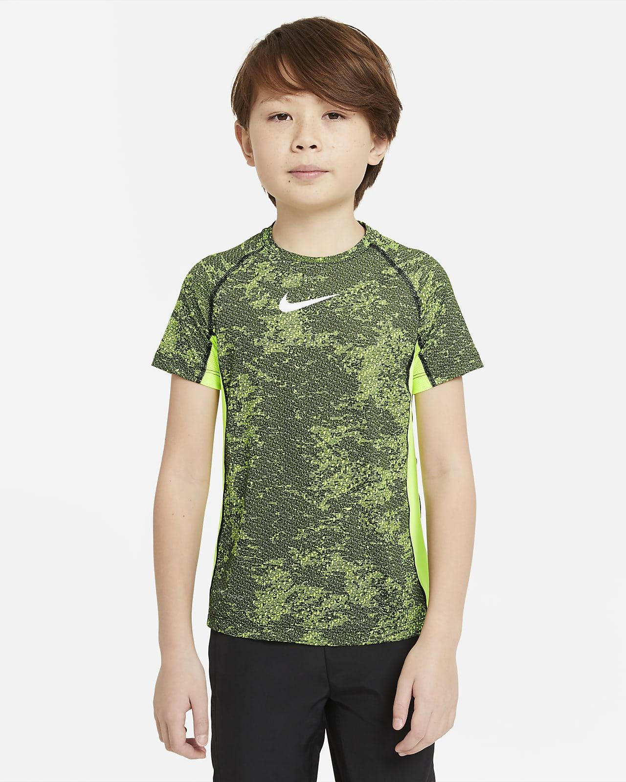 Parte superior de entrenamiento estampada para niño talla grande Nike Pro