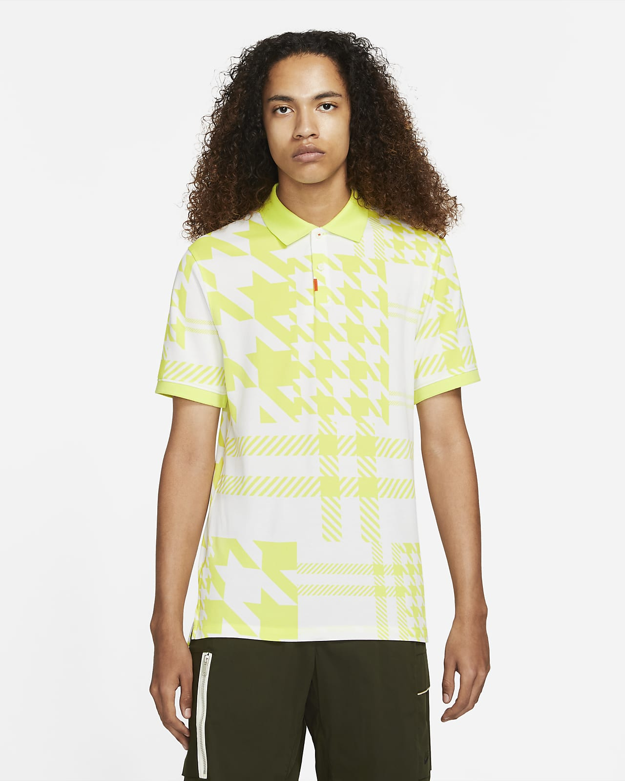 The Nike Polo Men's Slim-Fit Checked Polo