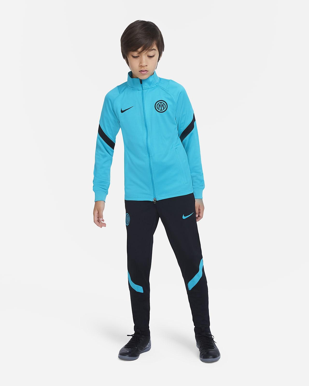 Inter Milan Strike Nike Dri-FIT Örgü Genç Çocuk Futbol Eşofmanı