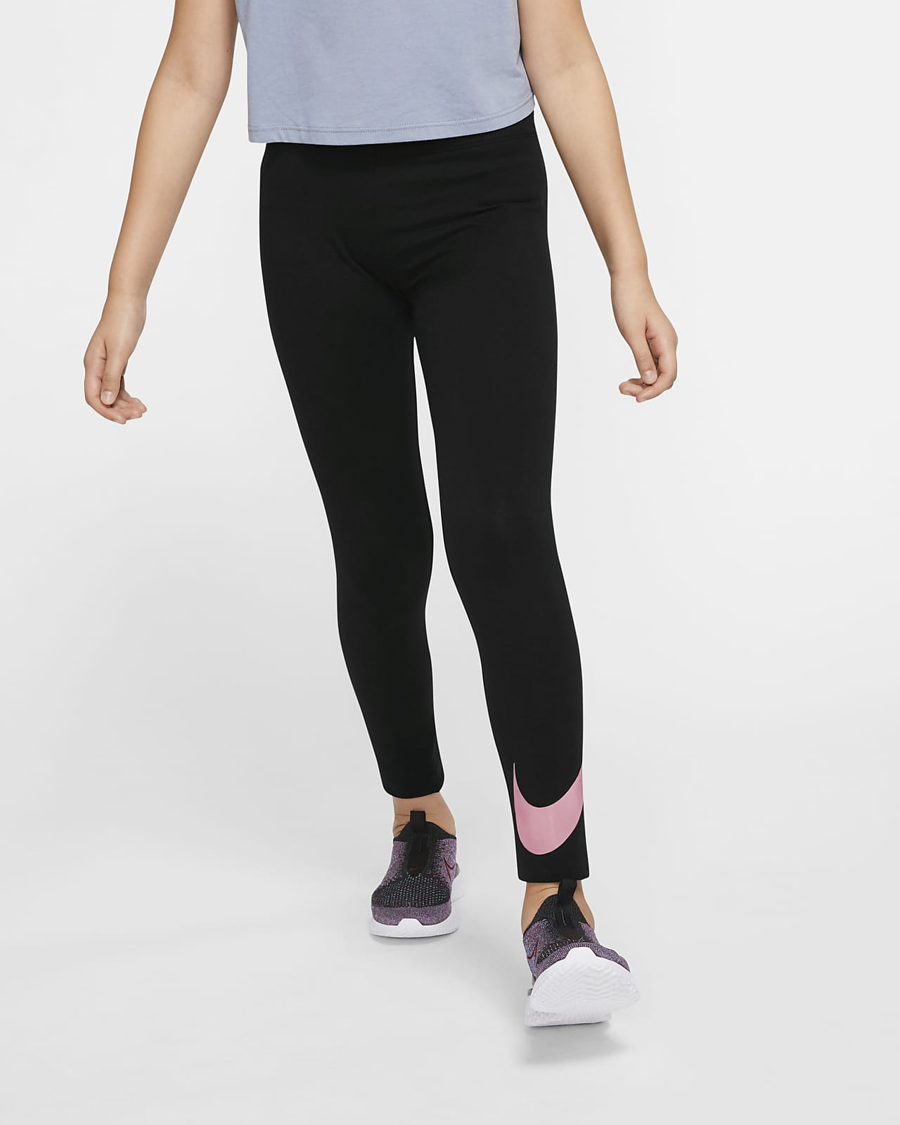 Nike Sportswear Swoosh Older Kids' (Girls') Leggings