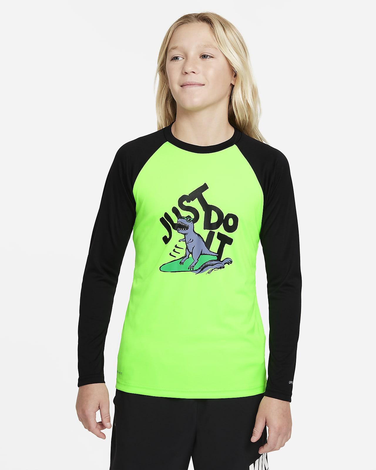 Nike JDI Big Kids' (Boys') Long-Sleeve Hydroguard Swim Shirt