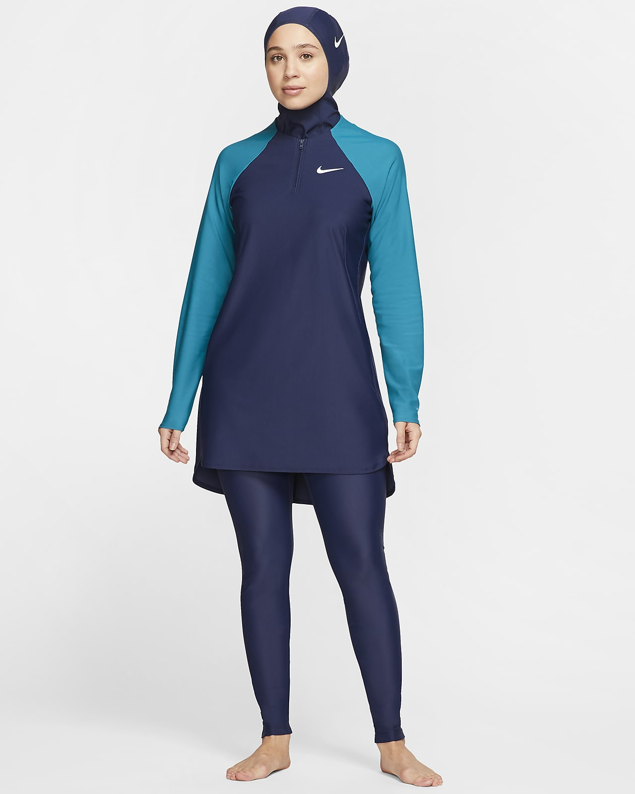 Dámské štíhlé dlouhé plavecké legíny Nike Victory
