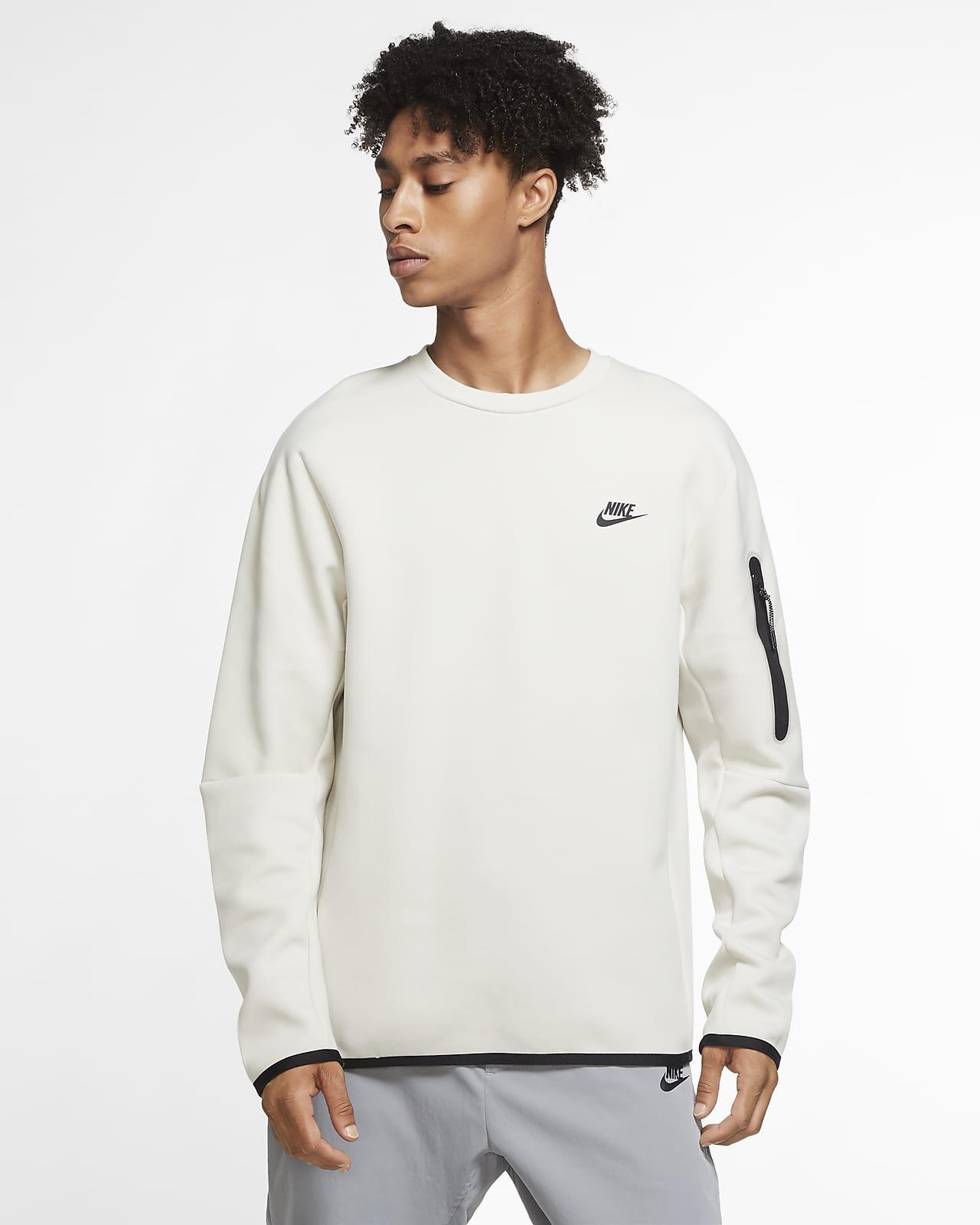 Tröja med rundad hals Nike Sportswear Tech Fleece för män