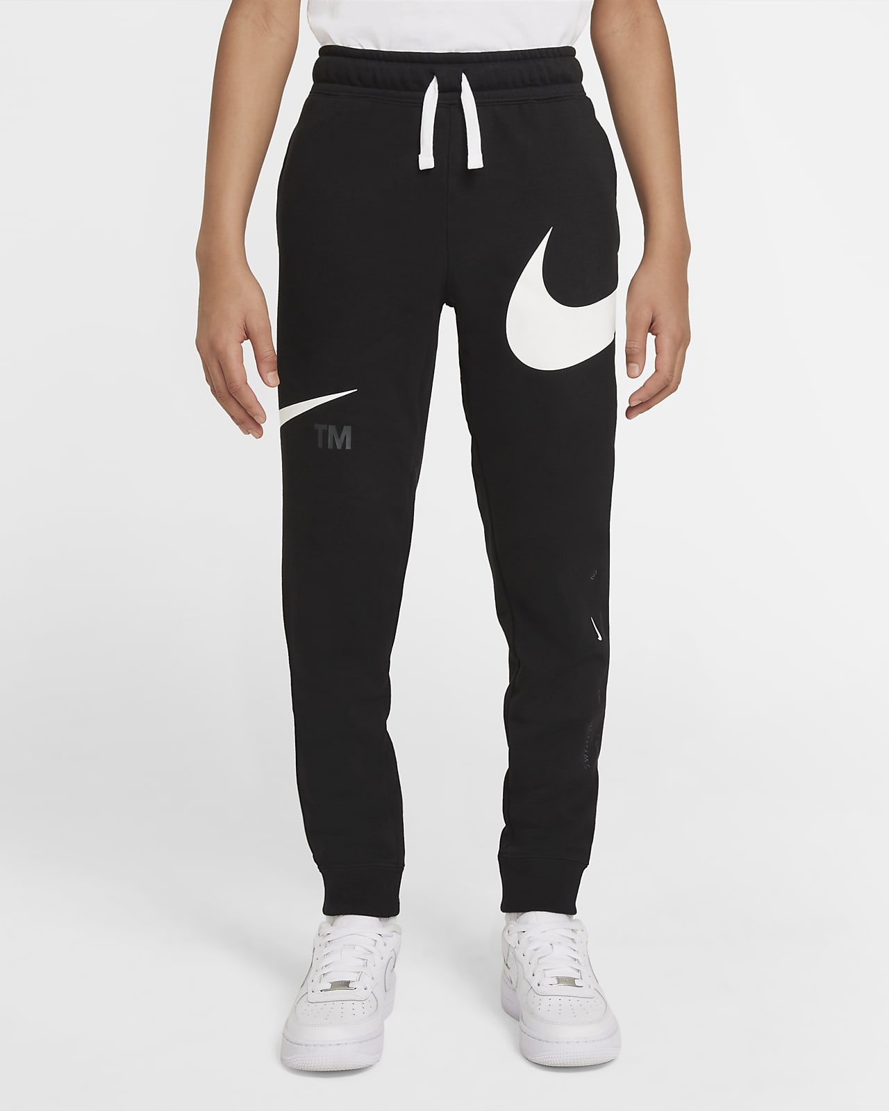Calças de lã cardada Nike Sportswear Swoosh Júnior (Rapaz)
