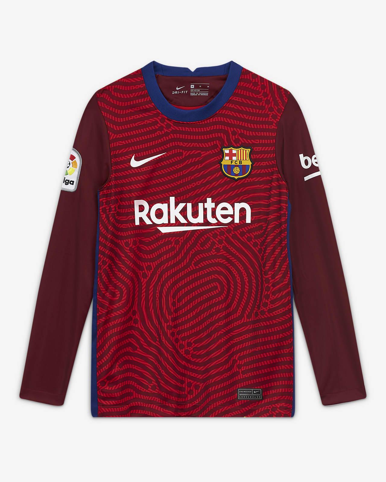 FC Barcelona 2020/21 Stadium-målmandstrøje til store børn