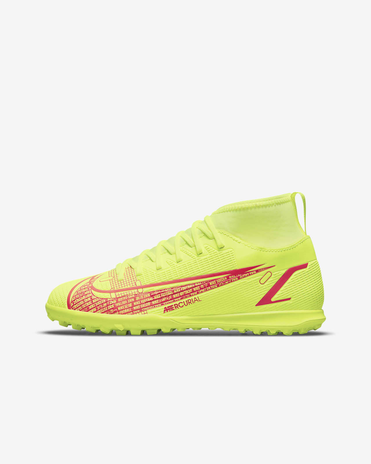Calzado de fútbol para terreno artificial para niños talla pequeña/grande Nike Jr. Mercurial Superfly 8 Club TF