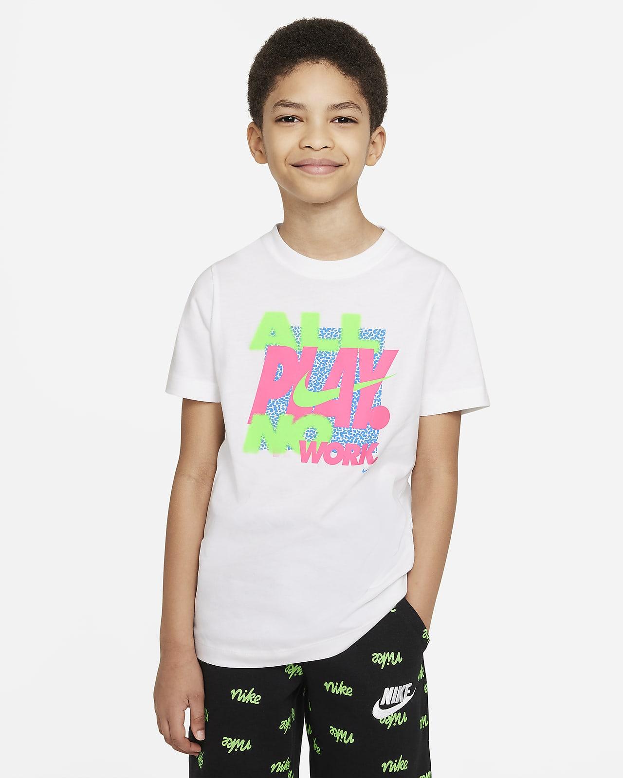 Playera para niño talla grande Nike Sportswear