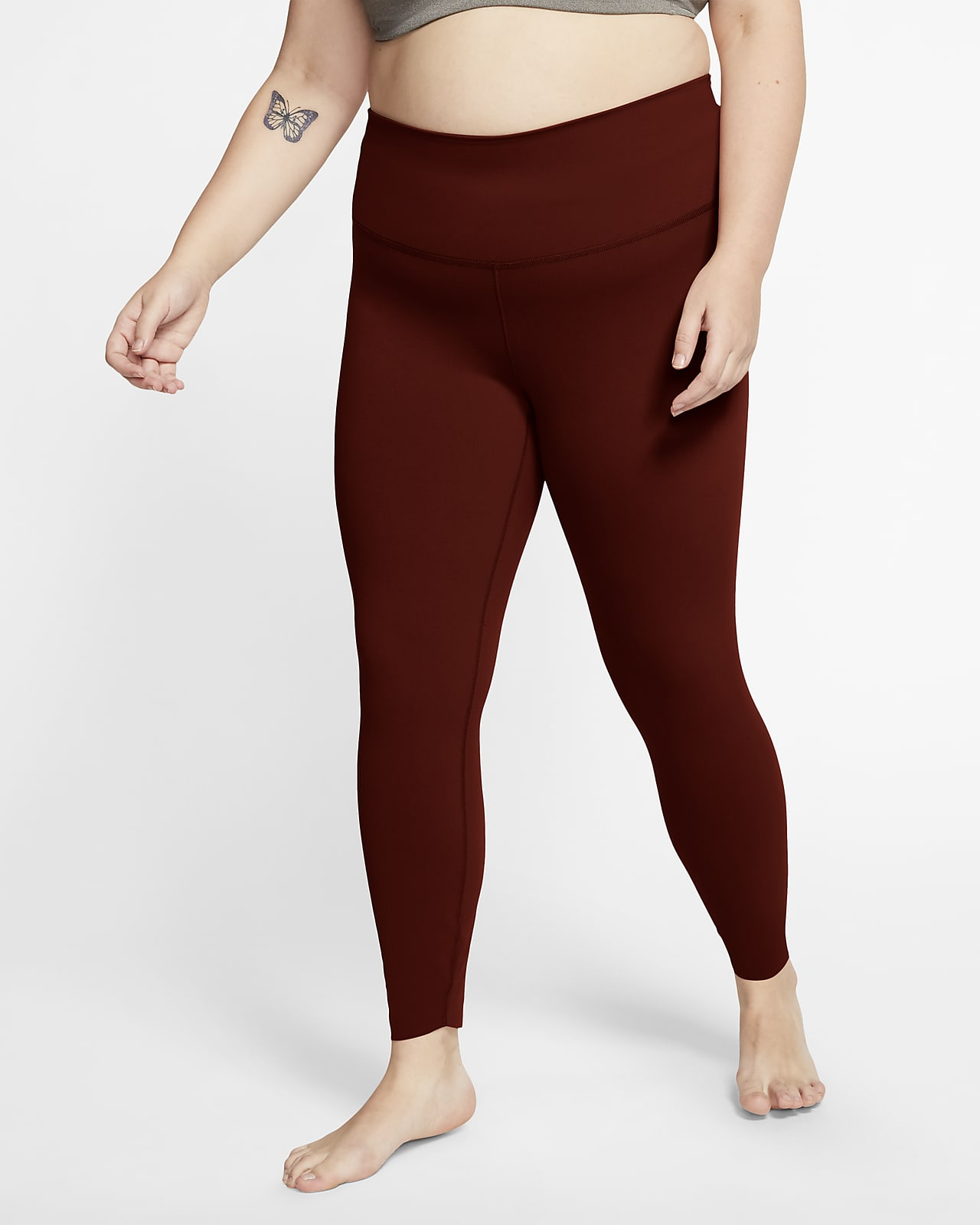 Nike Yoga Luxe Women's High-Waisted 7/8 Infinalon Leggings (Plus Size)