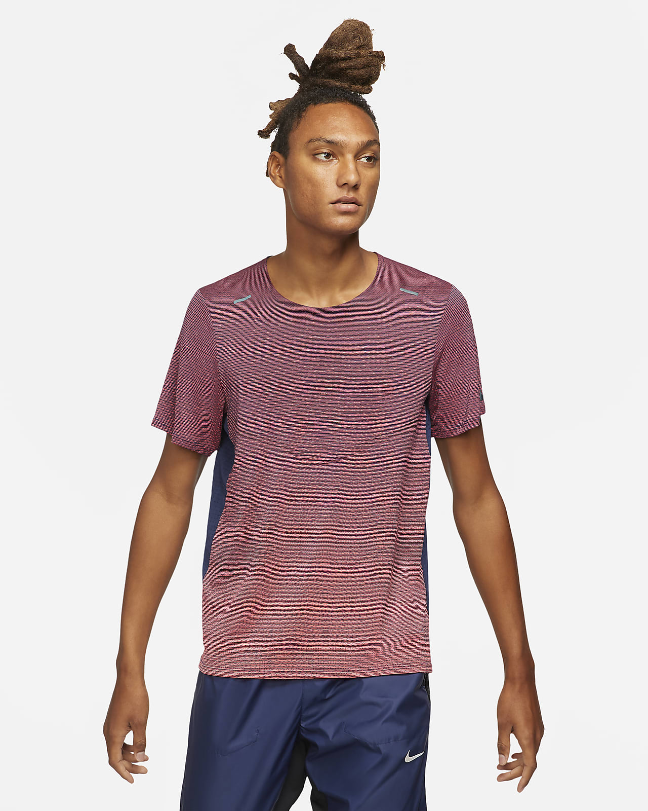 Nike Pinnacle Run Division Kısa Kollu Erkek Koşu Üstü