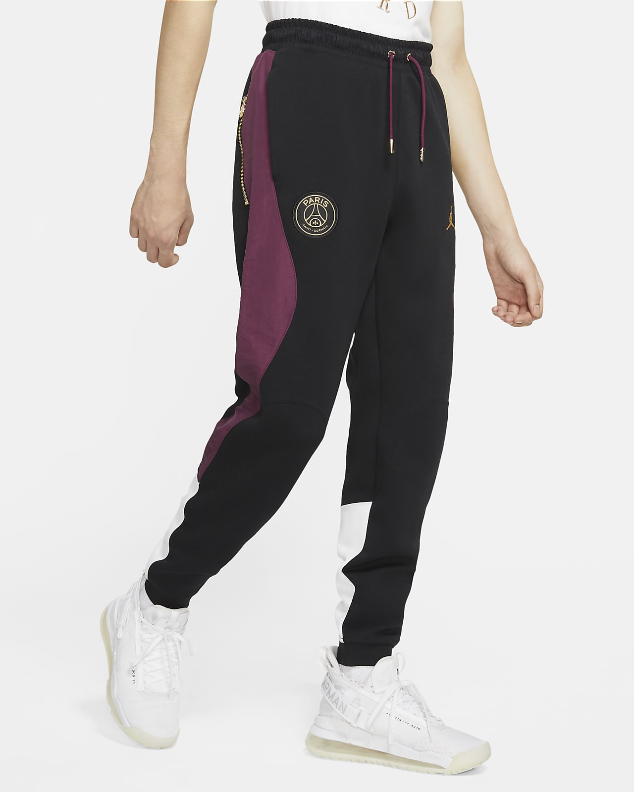 Pantalon de voyage en tissu Fleece Paris Saint-Germain pour Homme