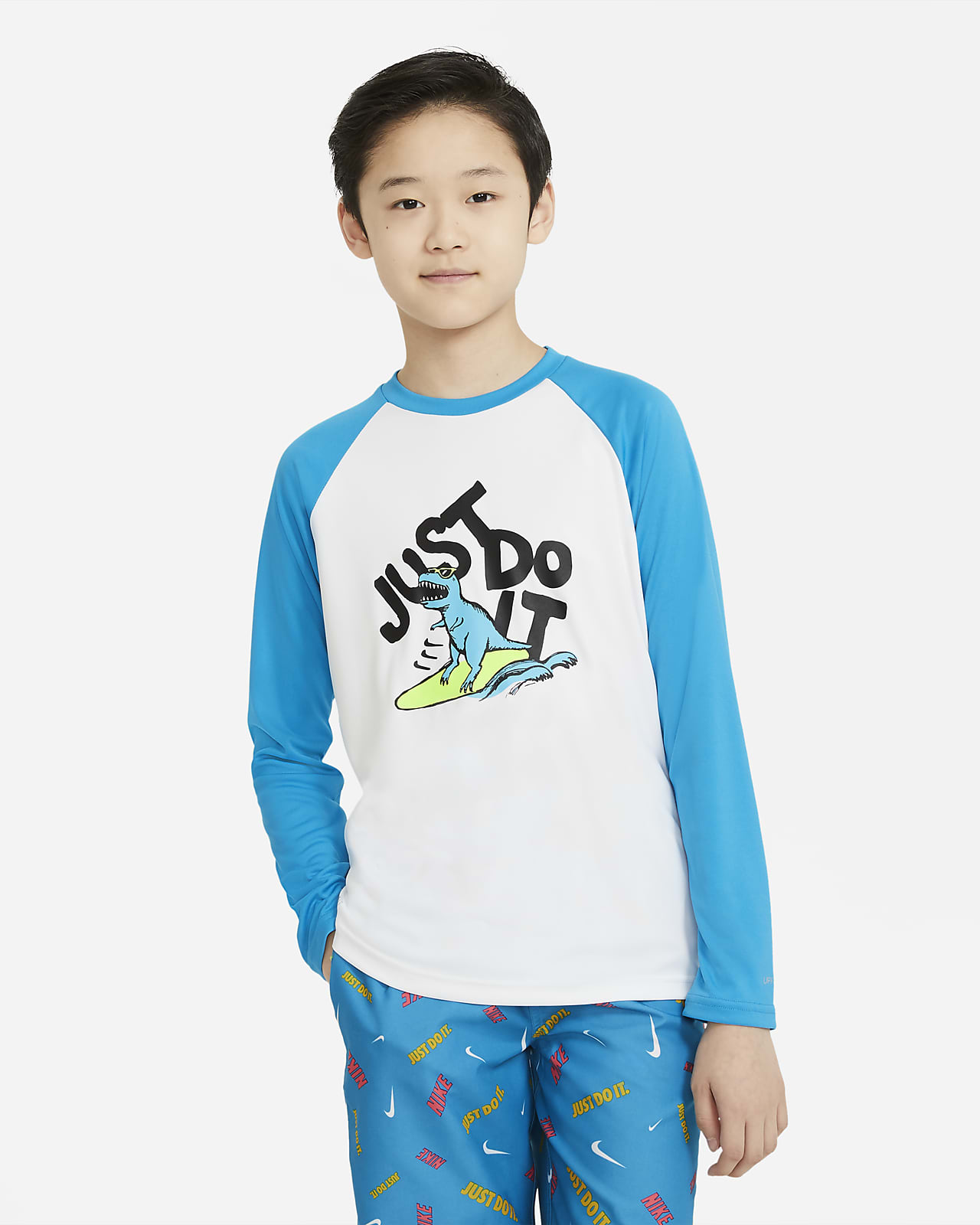 Nike JDI Big Kids' (Boys') Long-Sleeve Hydroguard Swim Shirt
