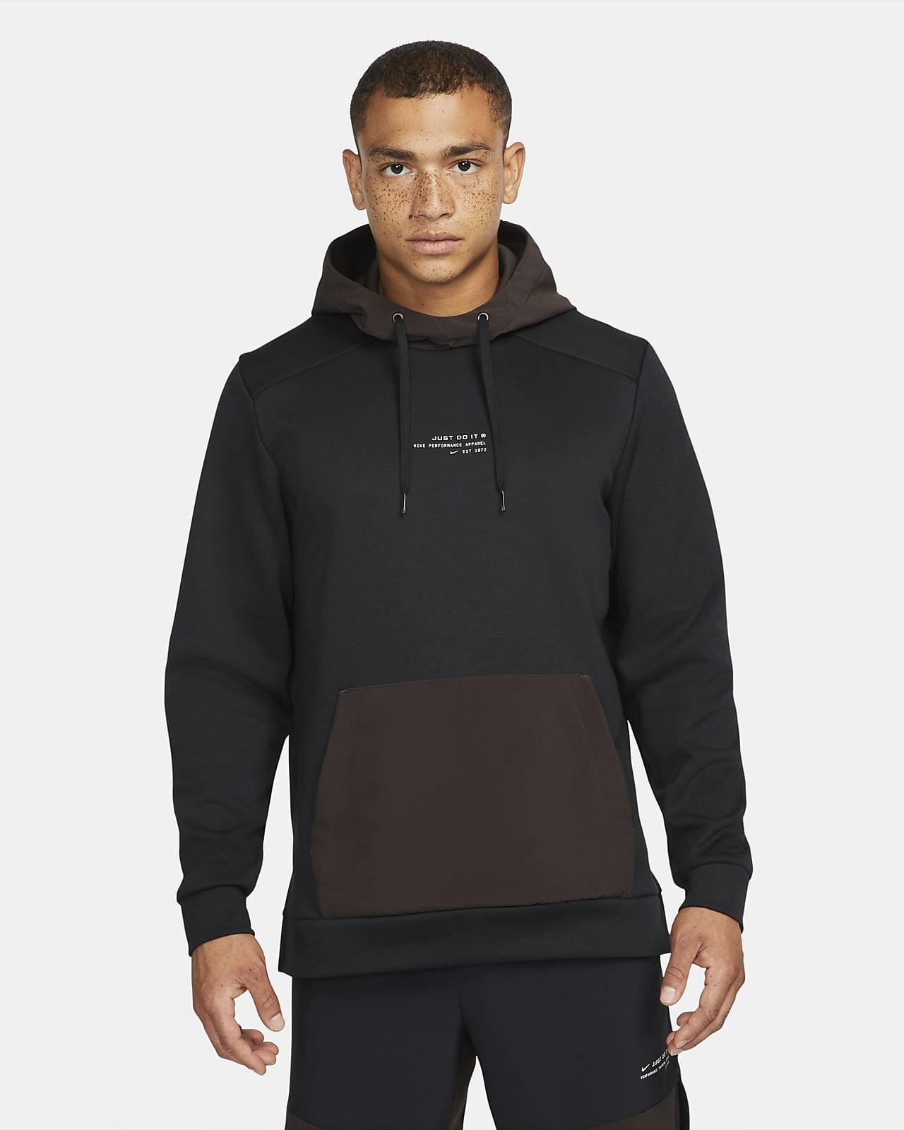 Hoodie pullover de treino em lã cardada Nike Dri-FIT para homem