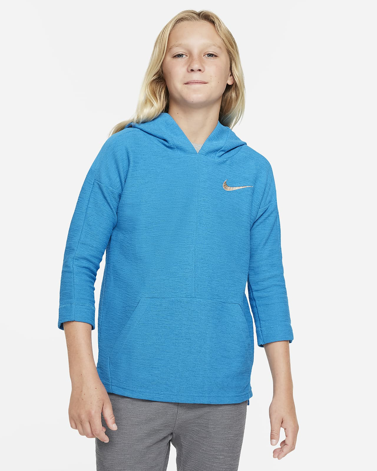 Sudadera con gorro de entrenamiento para niños talla grande Nike Yoga Dri-FIT