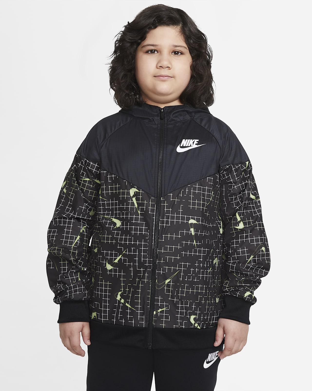 Chamarra para niños talla grande Nike Sportswear Windrunner (talla extendida)