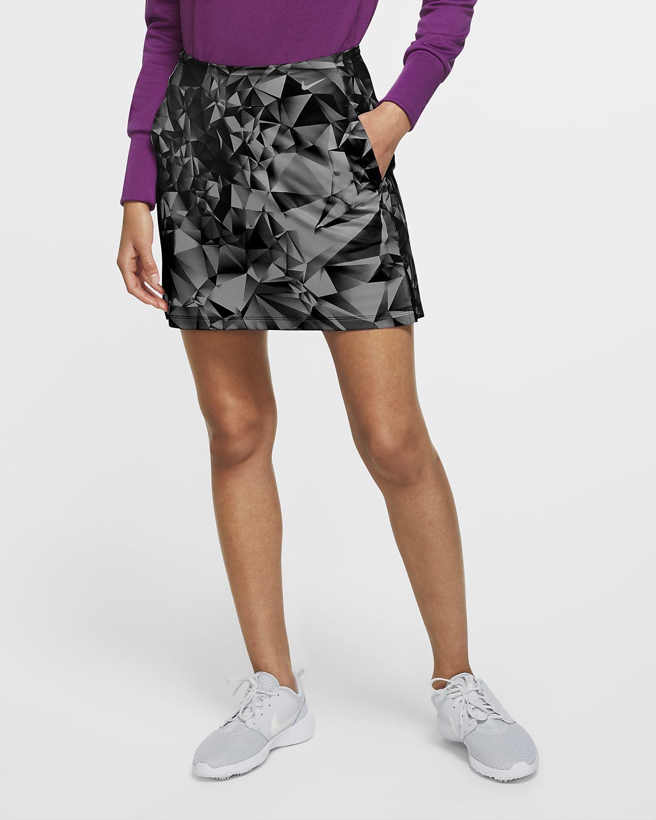 Nike Dri-FIT UV Victory 43 cm Baskılı Kadın Golf Eteği