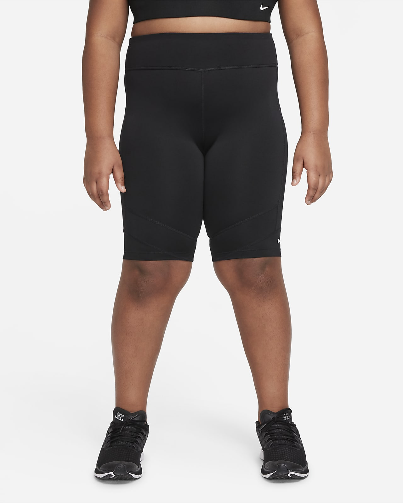 Nike Dri-FIT One Older Kids' (Girls') Bike Shorts (Extended Size)