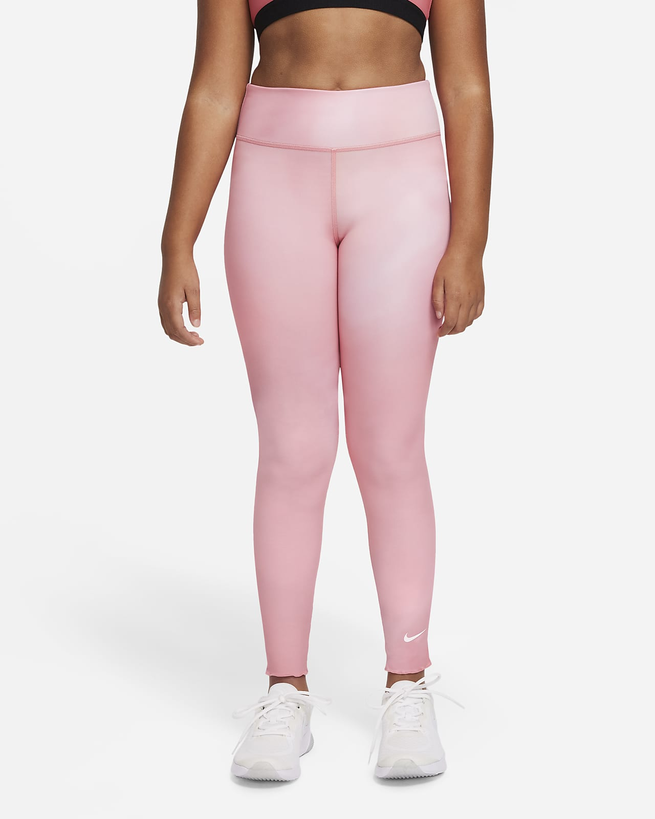 Nike Dri-FIT One Big Kids' (Girls') Printed Training Tights
