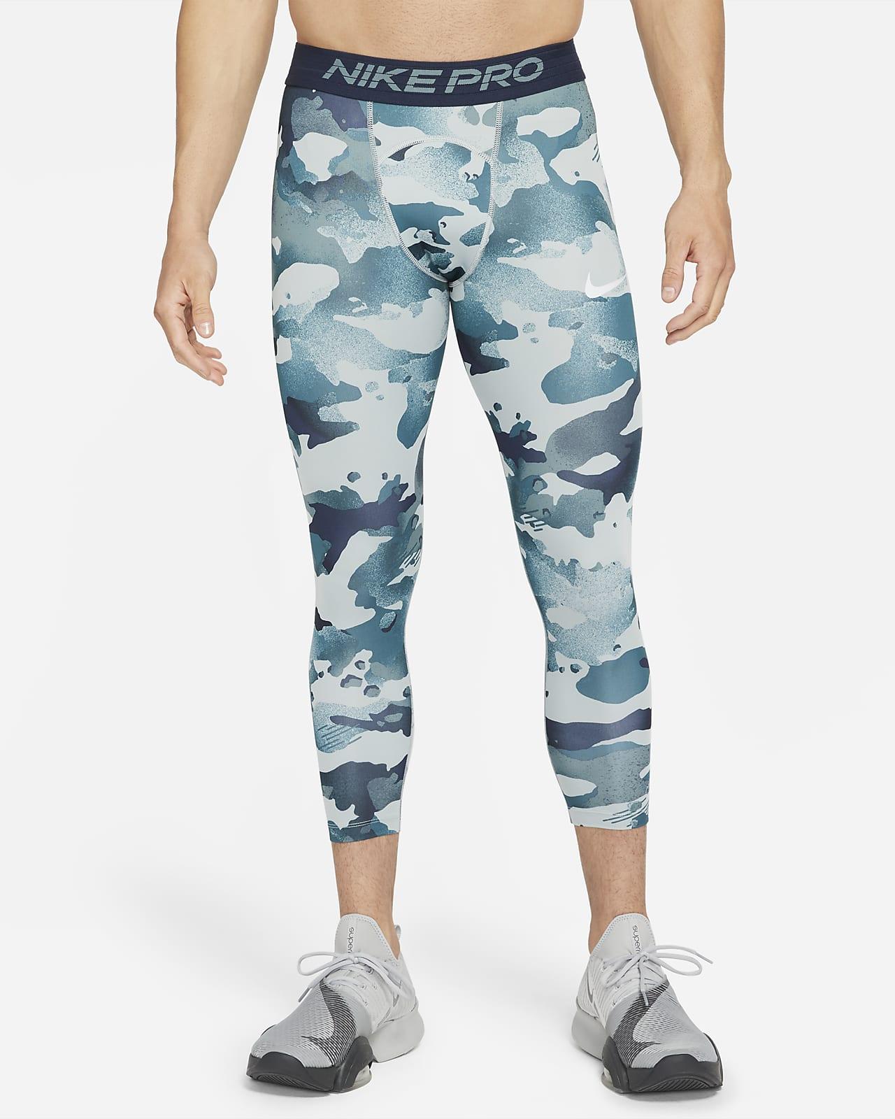 Legging 3/4 camouflage Nike Pro pour Homme