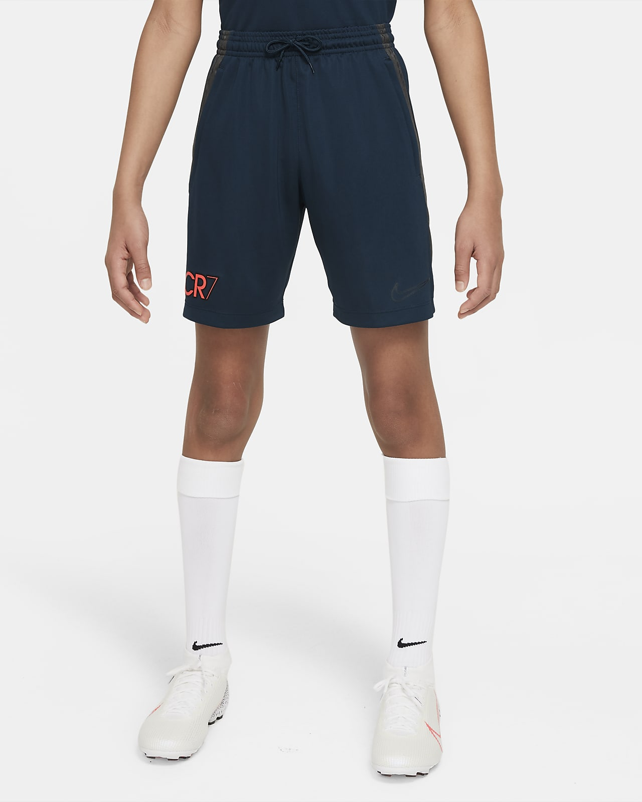 กางเกงฟุตบอลขาสั้นเด็กโต Nike Dri-FIT CR7