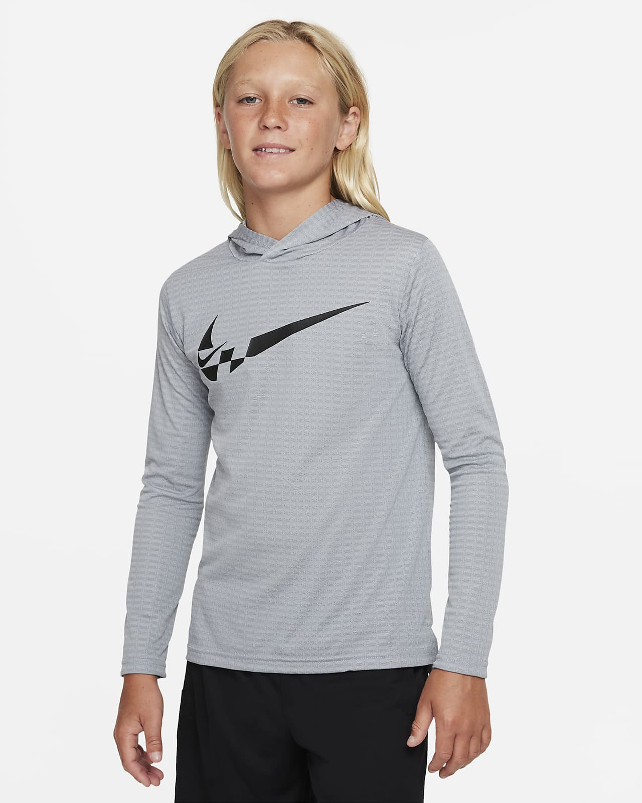 Nike Breathe Big Kids' (Boys') Graphic Hooded Training Top