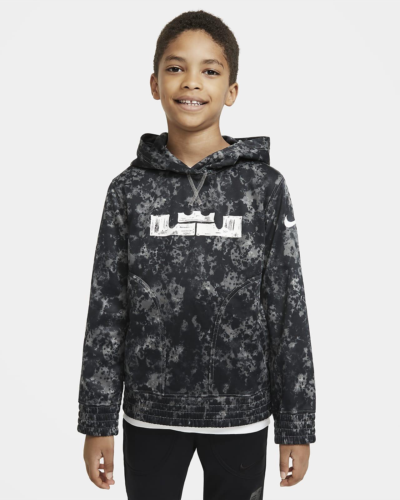 LeBron Big Kids' (Boys') Printed Pullover Basketball Hoodie